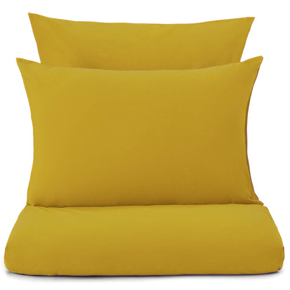 Perpignan Percale Bed Linen mustard, 100% combed cotton