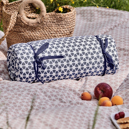 Saldanha Picnic Blanket in ultramarine & natural | Home & Living inspiration | URBANARA