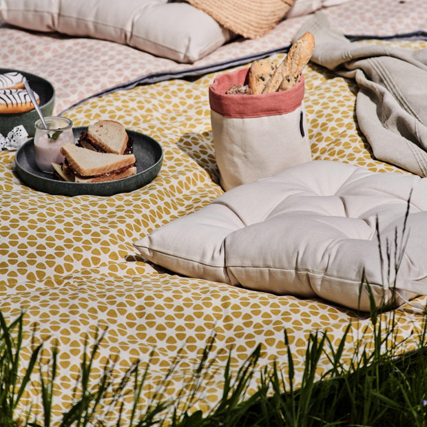 Saldanha Picnic Blanket in mustard & natural & brown | Home & Living inspiration | URBANARA