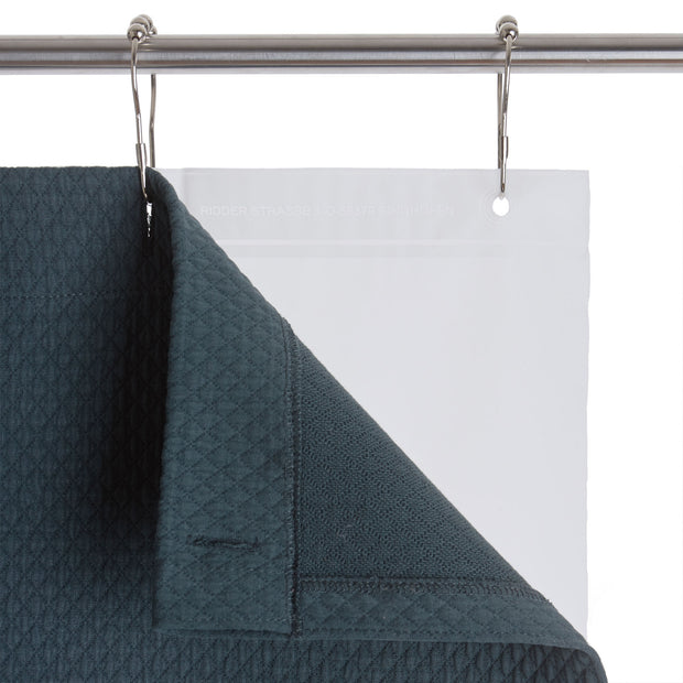 Proaza Shower Curtain teal, 100% cotton | High quality homewares