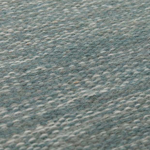 Pugal Runner green grey melange, 100% wool | High quality homewares