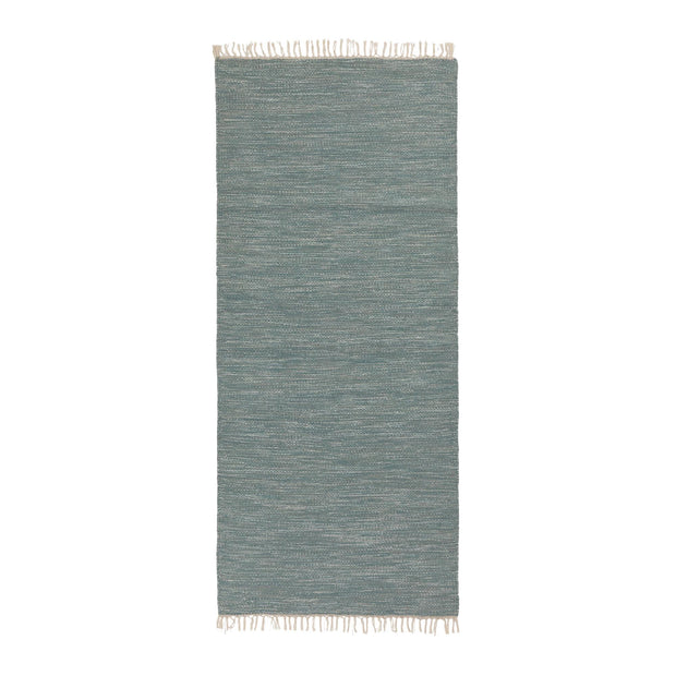 Pugal Runner green grey melange, 100% wool | URBANARA runners
