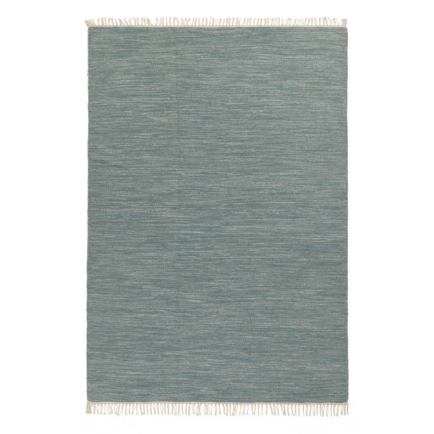 Pugal rug, green grey melange, 100% wool | URBANARA wool rugs