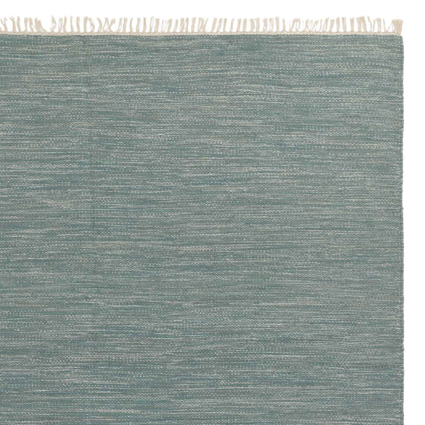Pugal rug, green grey melange, 100% wool