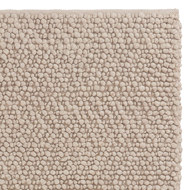 Ravi Mix Rug cream melange, 70% wool & 10% viscose & 20% cotton