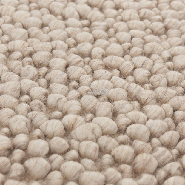 Ravi Mix Rug cream melange, 70% wool & 10% viscose & 20% cotton | High quality homewares