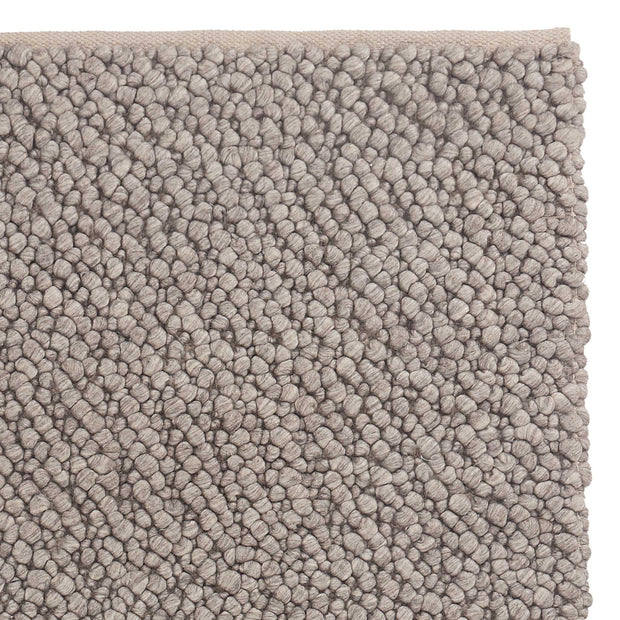 Ravi Mix Rug stone grey melange, 70% wool & 10% viscose & 20% cotton
