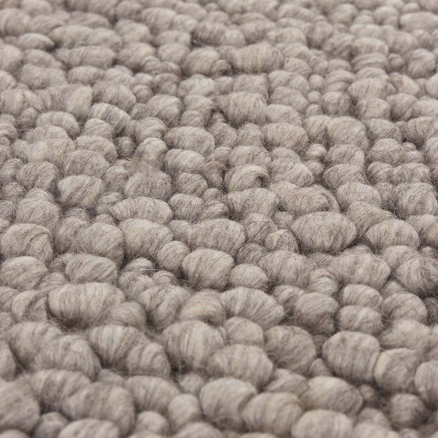 Ravi Mix Rug stone grey melange, 70% wool & 10% viscose & 20% cotton | High quality homewares