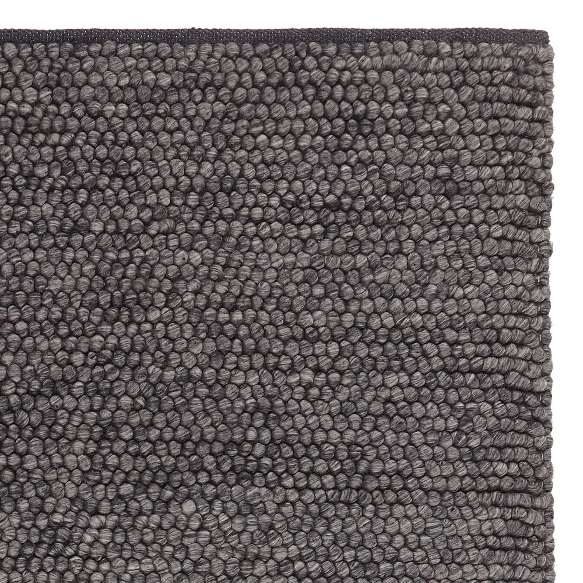 Ravi Wool Rug Charcoal Melange 70 New Wool Amp 30