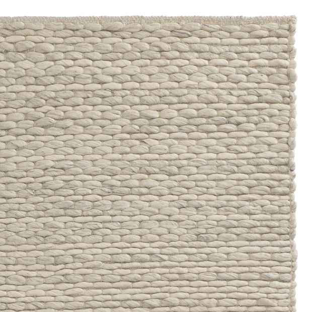Romo Rug cream & natural, 50% wool & 50% cotton