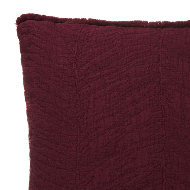 Ruivo cushion cover, bordeaux red, 100% cotton | URBANARA cushion covers