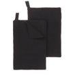 Safara Tea towel Set charcoal, 100% cotton