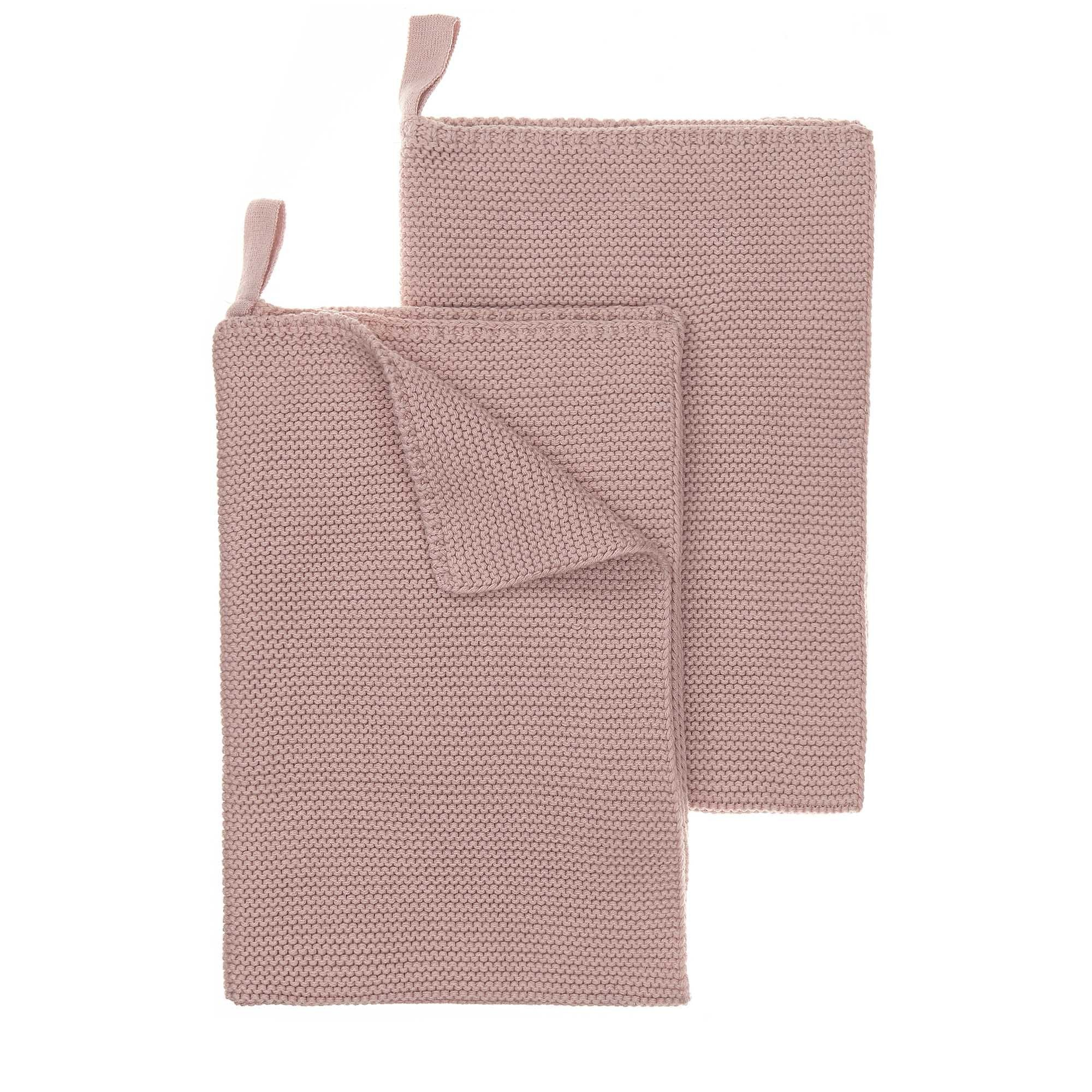 Safara dishcloth, powder pink, 100% cotton | URBANARA dishcloths