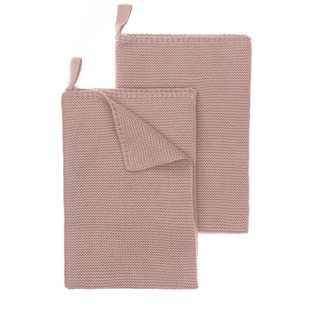 Safara Tea Towel Set powder pink, 100% cotton
