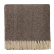 Salantai blanket, dark brown & cream, 100% new wool | URBANARA wool blankets