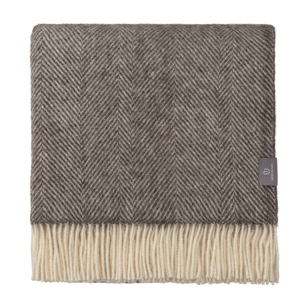 Salantai blanket, grey & cream, 100% new wool |High quality homewares