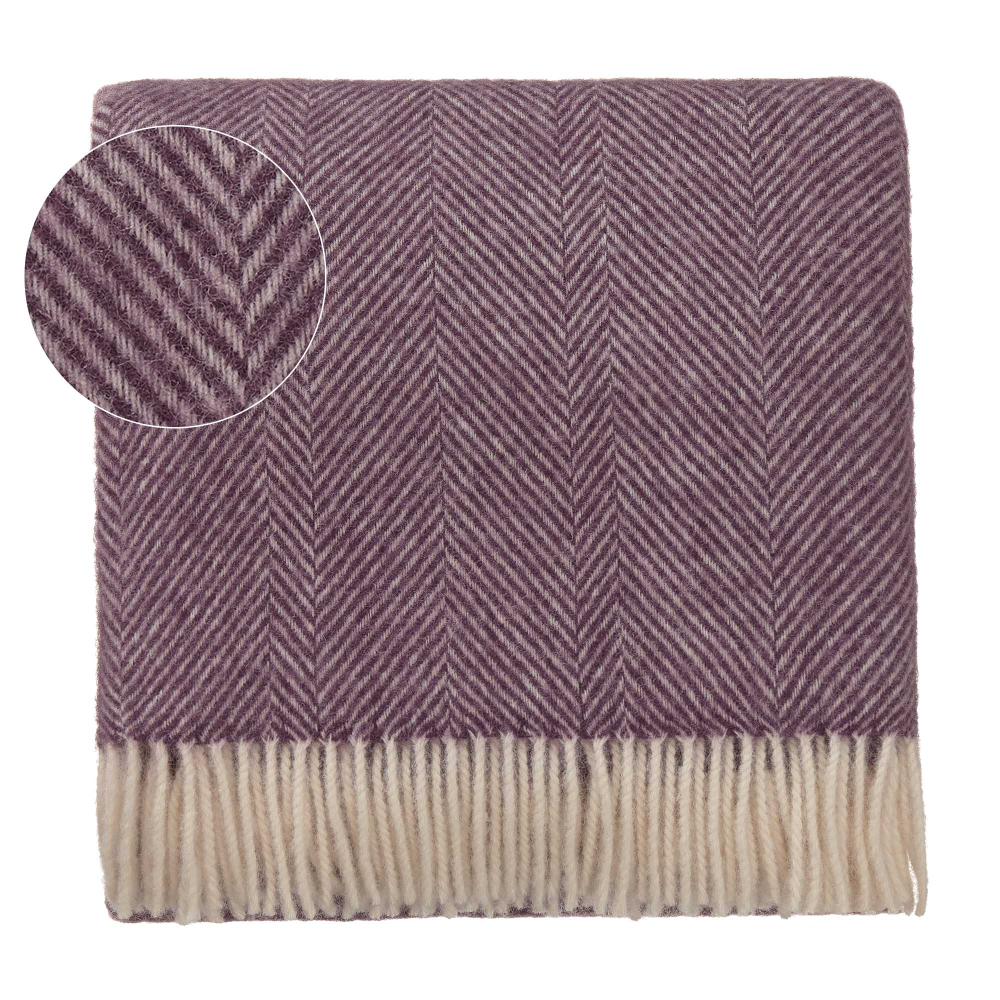 Salantai Wool Blanket [Plum/Cream]