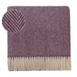 Salantai blanket, plum & cream, 100% new wool