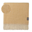 Salantai Wool Blanket mustard & cream, 100% new wool