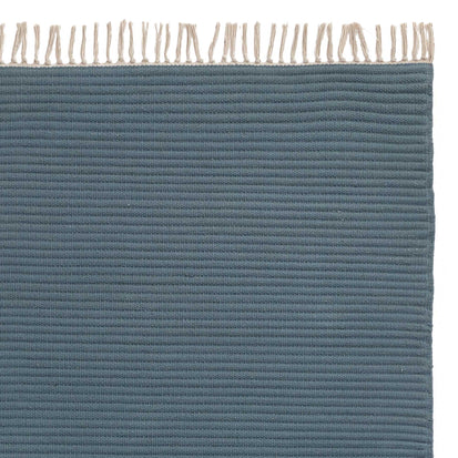 Salasar rug, teal, 100% cotton