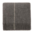 Saldus Wool Blanket grey & cream, 100% new wool