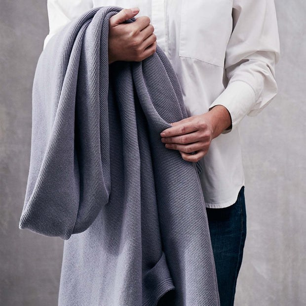Salicos Blanket in pigeon blue | Home & Living inspiration | URBANARA