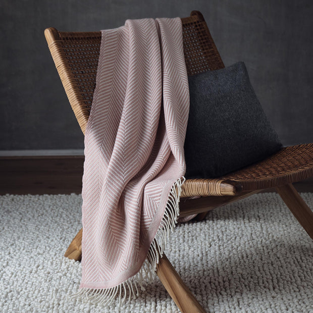 Salla Wool Blanket [Rouge/Cream]