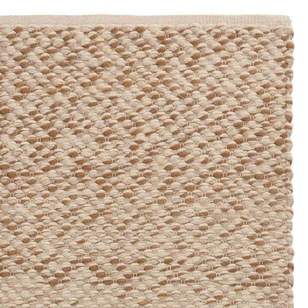 Salo Rug cognac & warm beige & natural white, 55% wool & 40% polyester & 5% jute
