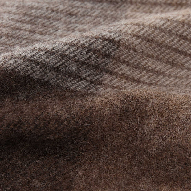 Salos Alpaca Blanket brown, 50% alpaca wool & 50% lambswool | High quality homewares