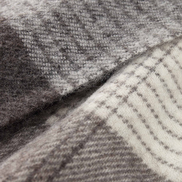 Salos blanket, grey, 50% alpaca wool & 50% lambswool |High quality homewares