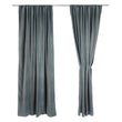 Samana Velvet Curtain green grey, 100% cotton | High quality homewares