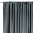 Samana Velvet Curtain green grey, 100% cotton | URBANARA curtains