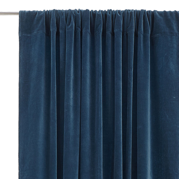Samana Velvet Curtain teal, 100% cotton | Find the perfect curtains