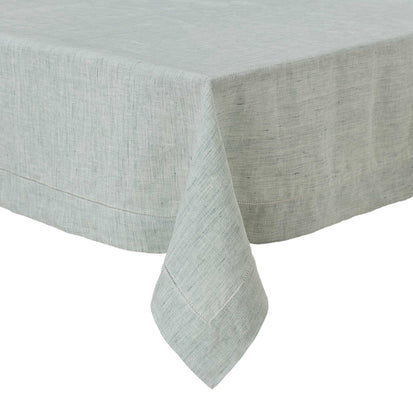 Sameiro Table Cloth green grey, 100% linen