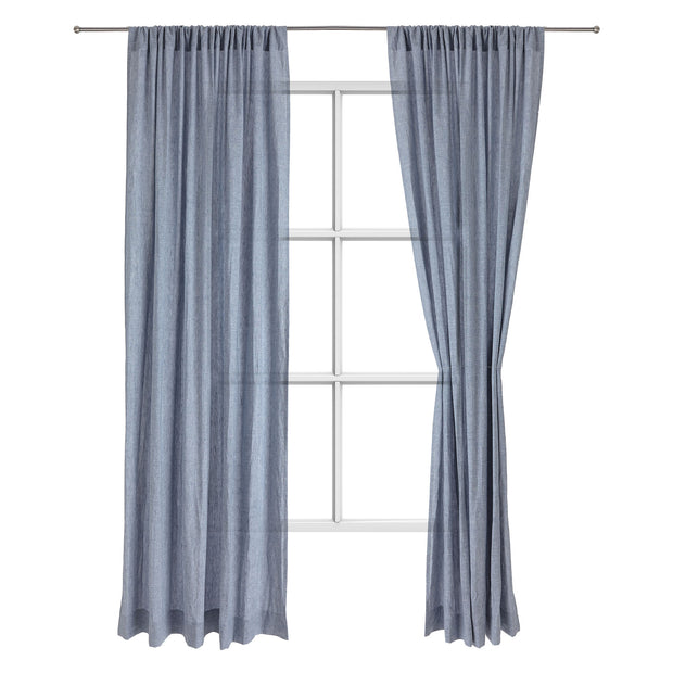 Sameiro linen curtain [Dark grey blue]