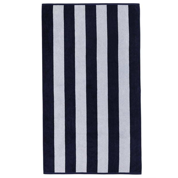 Serena beach towel, blue & white, 100% cotton