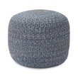 Shopal pouf, blue, 100% cotton