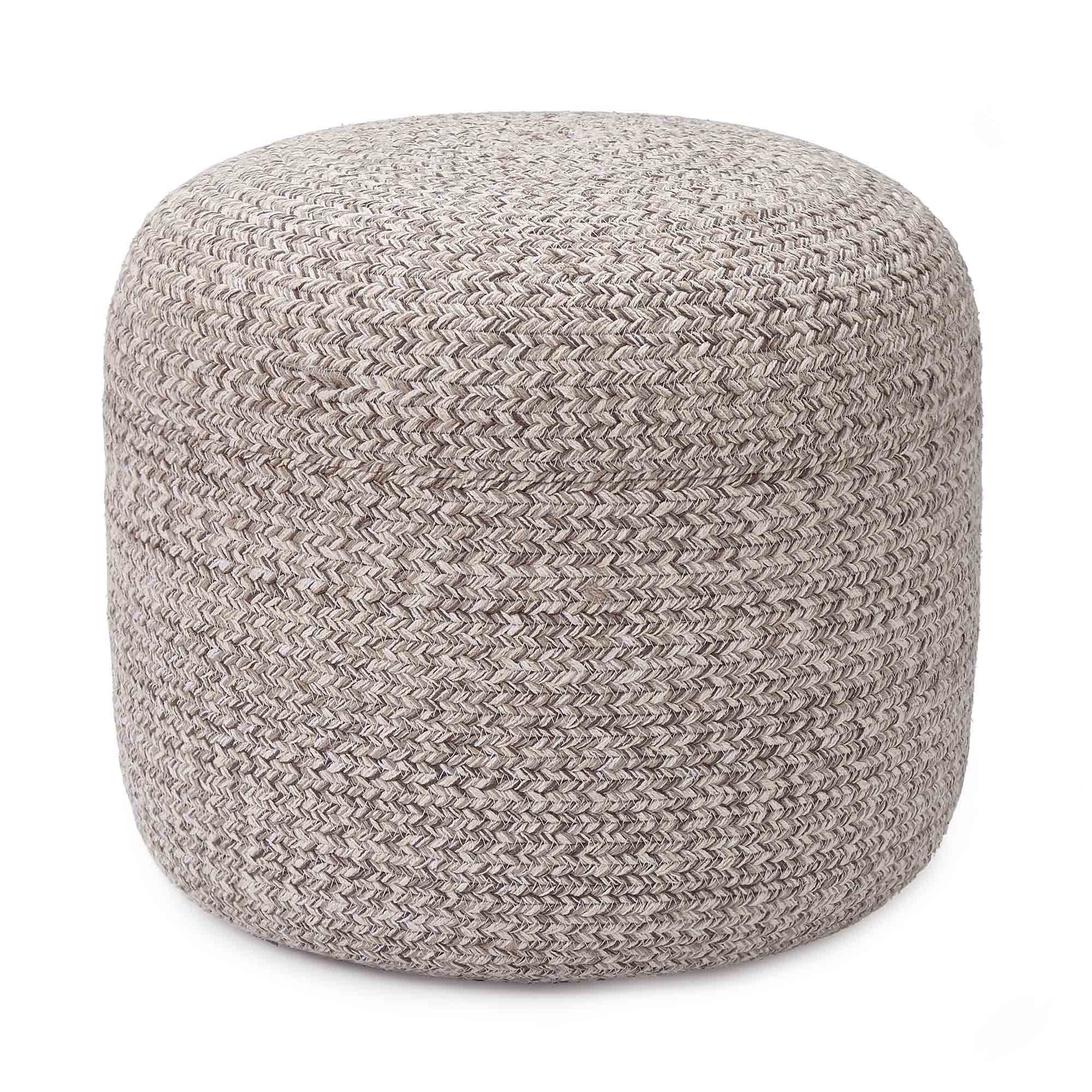 Shopal pouf, grey melange, 100% cotton