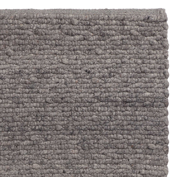 Sihora Rug grey melange, 60% wool & 40% cotton