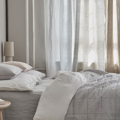 Karlay Linen Quilt in light grey | Home & Living inspiration | URBANARA