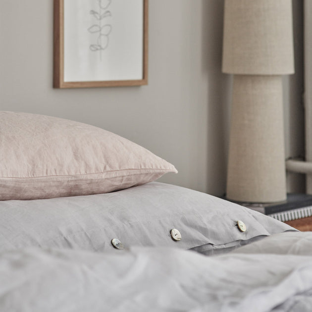 Bellvis Bed Linen in light grey | Home & Living inspiration | URBANARA