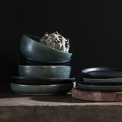 Malhou Cereal Bowl Set in grey green | Home & Living inspiration | URBANARA