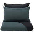 Sobral pillowcase, green grey & black, 100% cotton