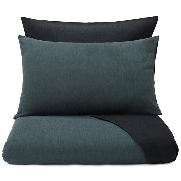 Sobral duvet cover, green grey & black, 100% cotton