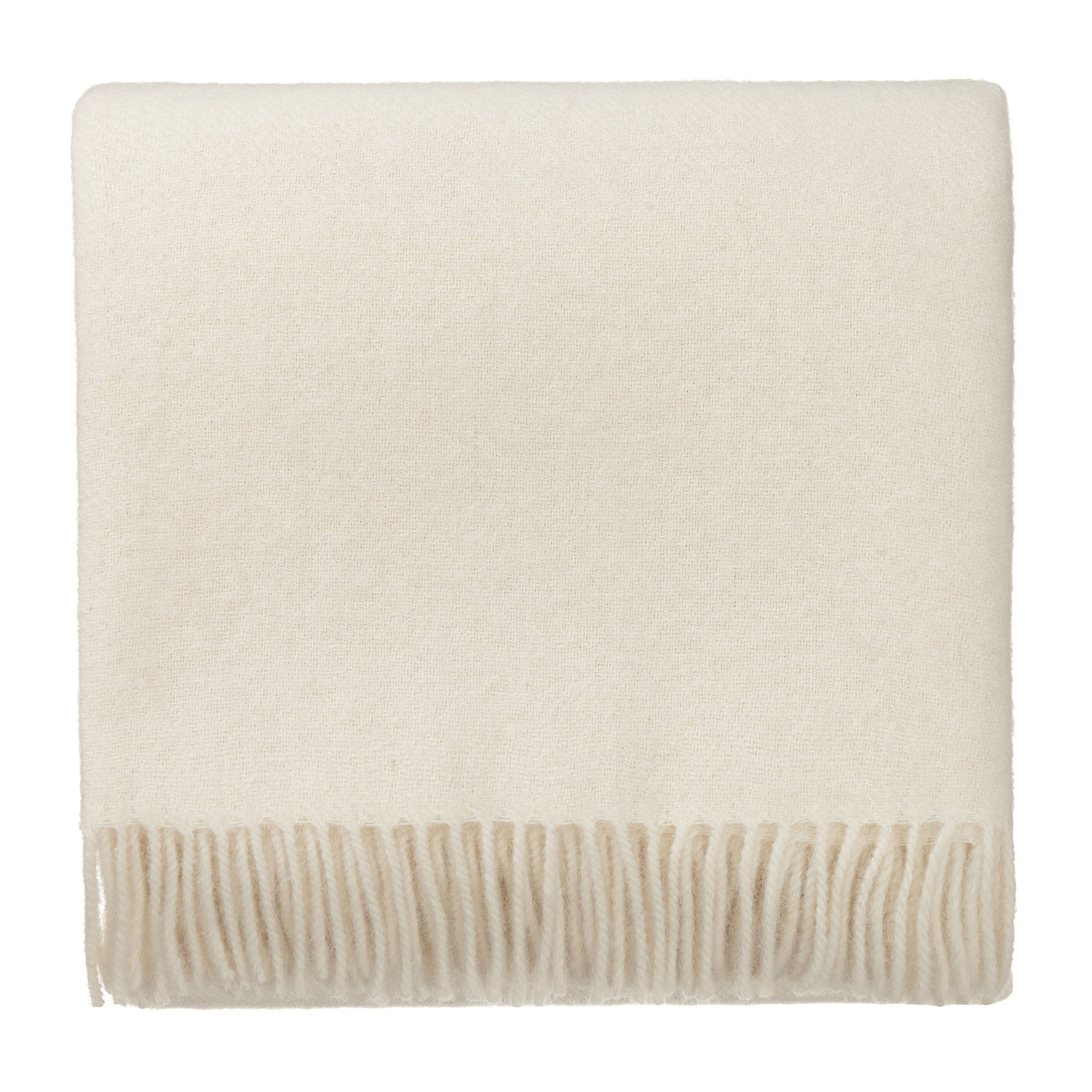Tahua blanket, cream, 50% alpaca wool & 50% lambswool