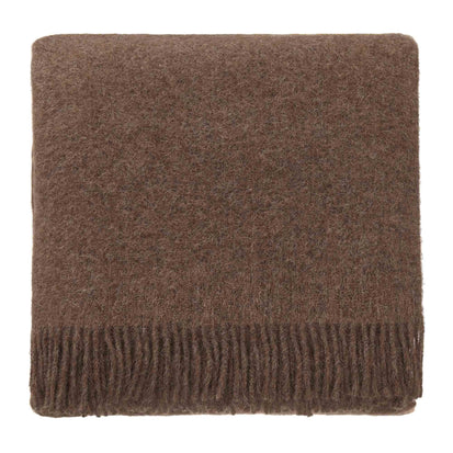 Tahua blanket, light brown, 50% alpaca wool & 50% lambswool