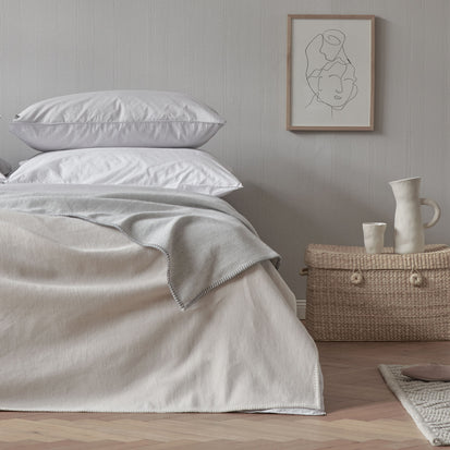 Laussa Blanket in beige & off-white | Home & Living inspiration | URBANARA
