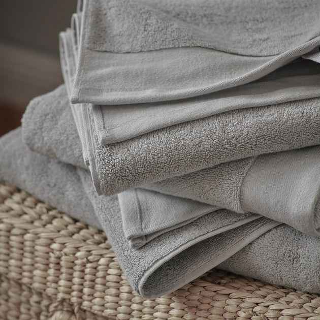 Merouco Hand Towel in light grey | Home & Living inspiration | URBANARA