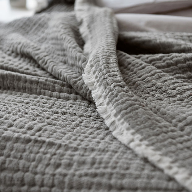 Cousso Bedspread in grey | Home & Living inspiration | URBANARA