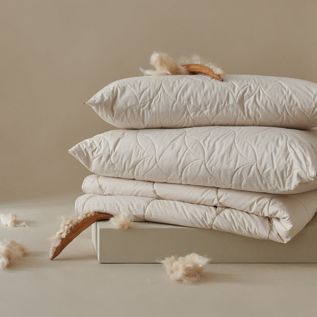 Malna Duo Duvet in natural white | Home & Living inspiration | URBANARA